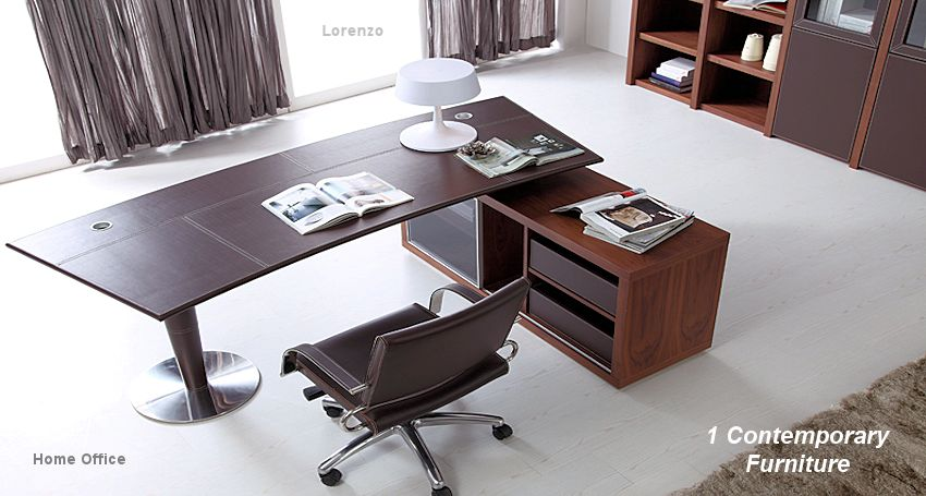 1 Contemporary Furniture Modern Office : 1rightID LorenzoLeatherDesk from www.1contemporary.com size 850 x 455 jpeg 83kB