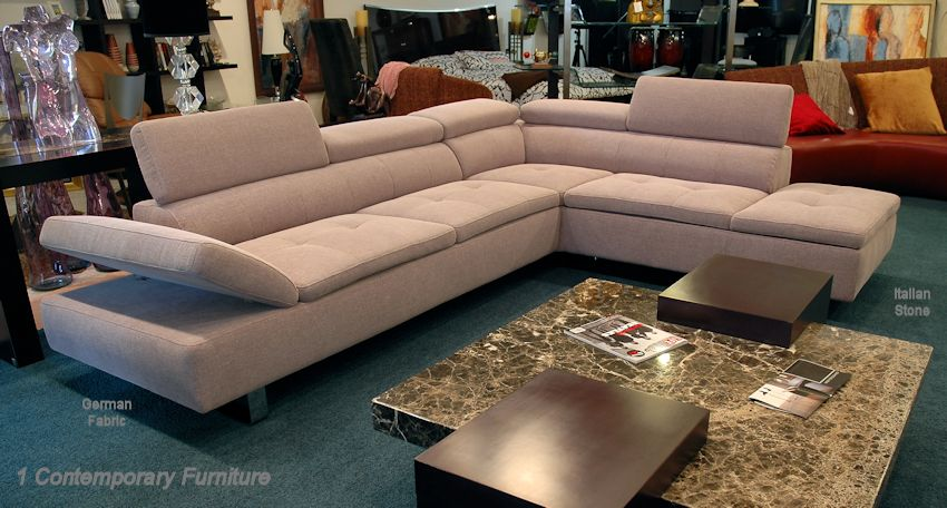 1 Contemporary Furniture 174 Living Room Italian Leather