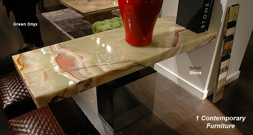 Green Onyx Console Table