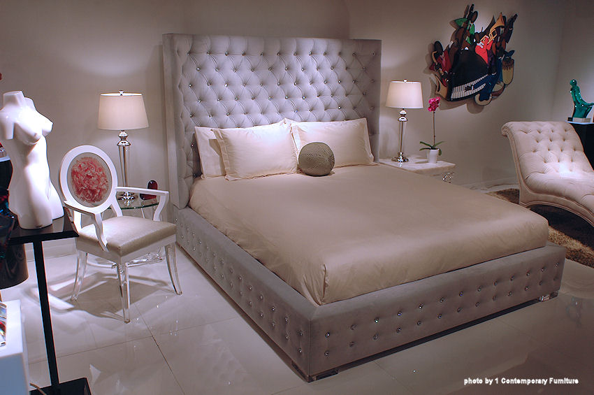 1 Contemporary Furniture 174 Sasha Upholstered Bed