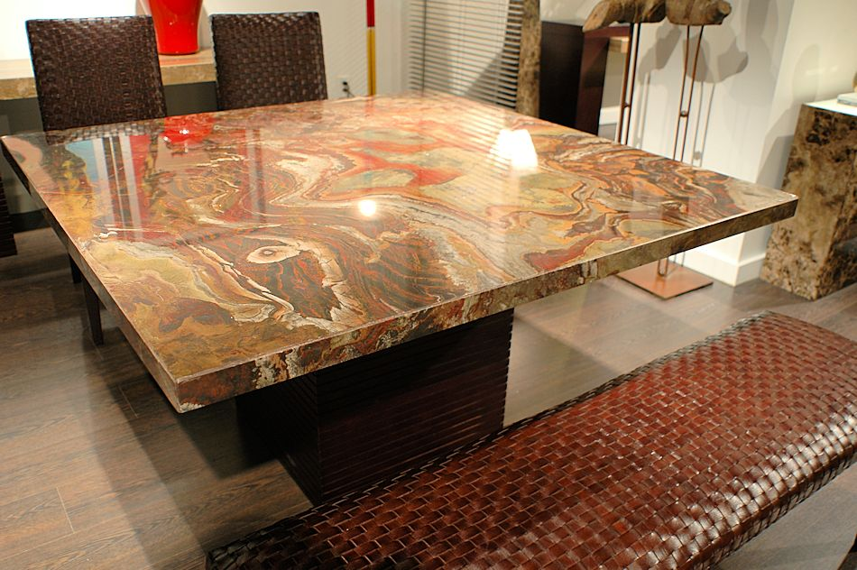 Square Table Top Designs Top Stone Square Dining Table