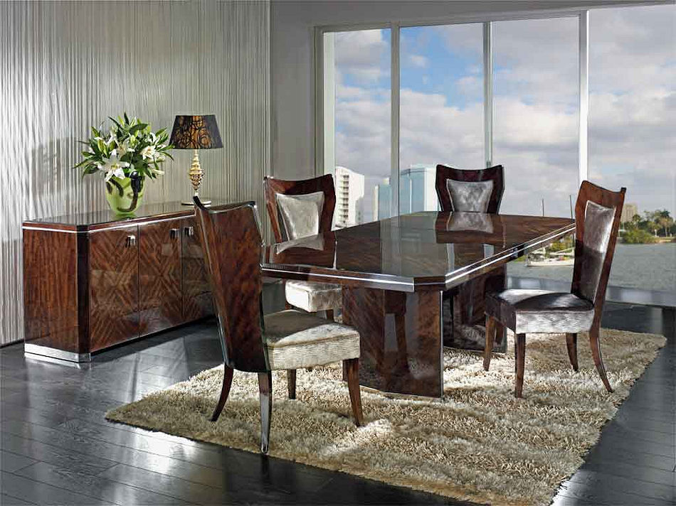 Contemporary High Gloss Finish Dining