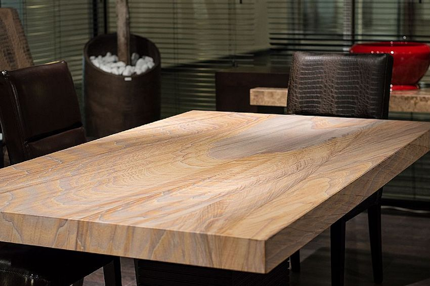 Contemporary Furniture Product Page - Cb2 stone table