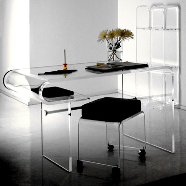 1 contemporary furniture product page for Perspex desk