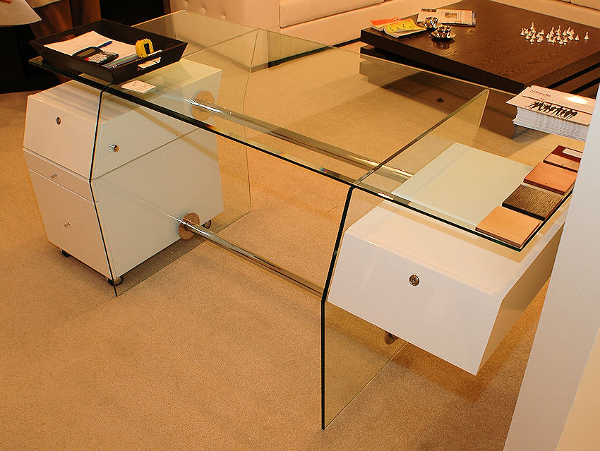 desk with locking file cabinet 1