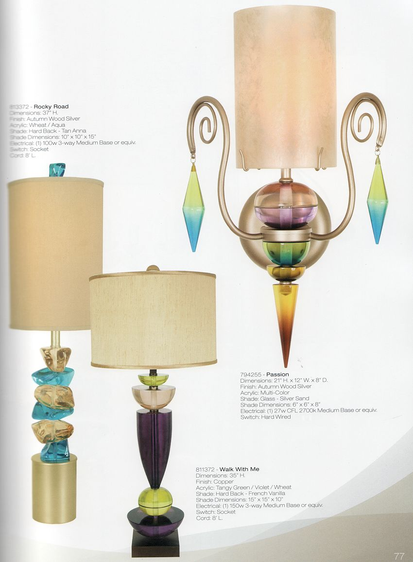 Contemporary Acrylic Table Lamp