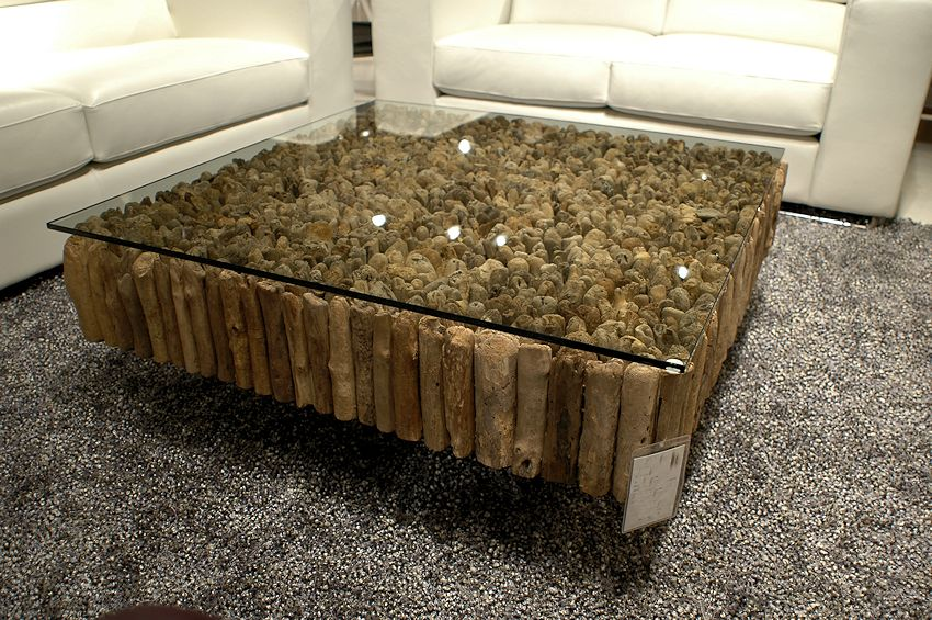 1 contemporary furniture product page for Modern wood and glass coffee table