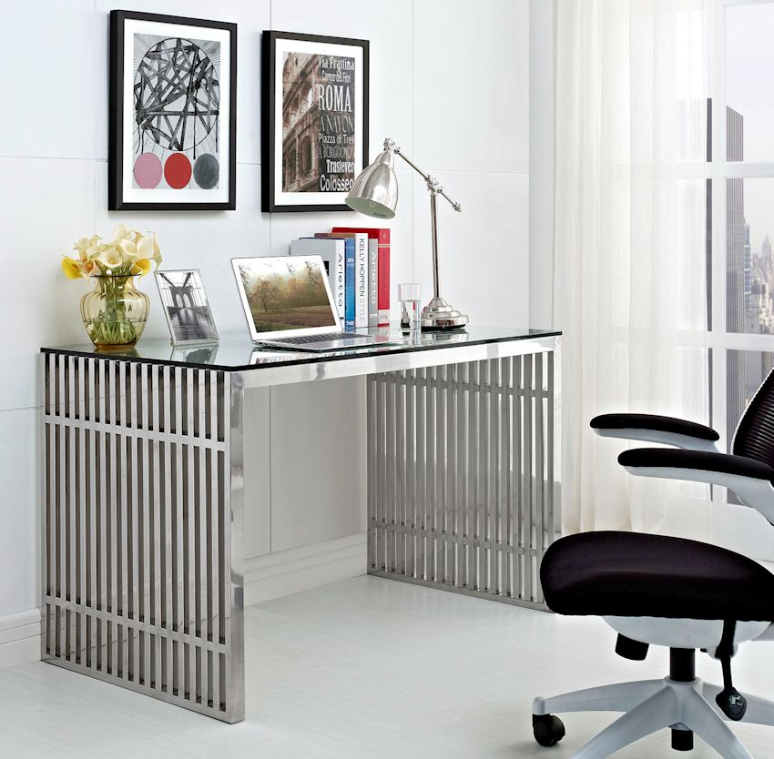 Modern Stainless Steel Desk