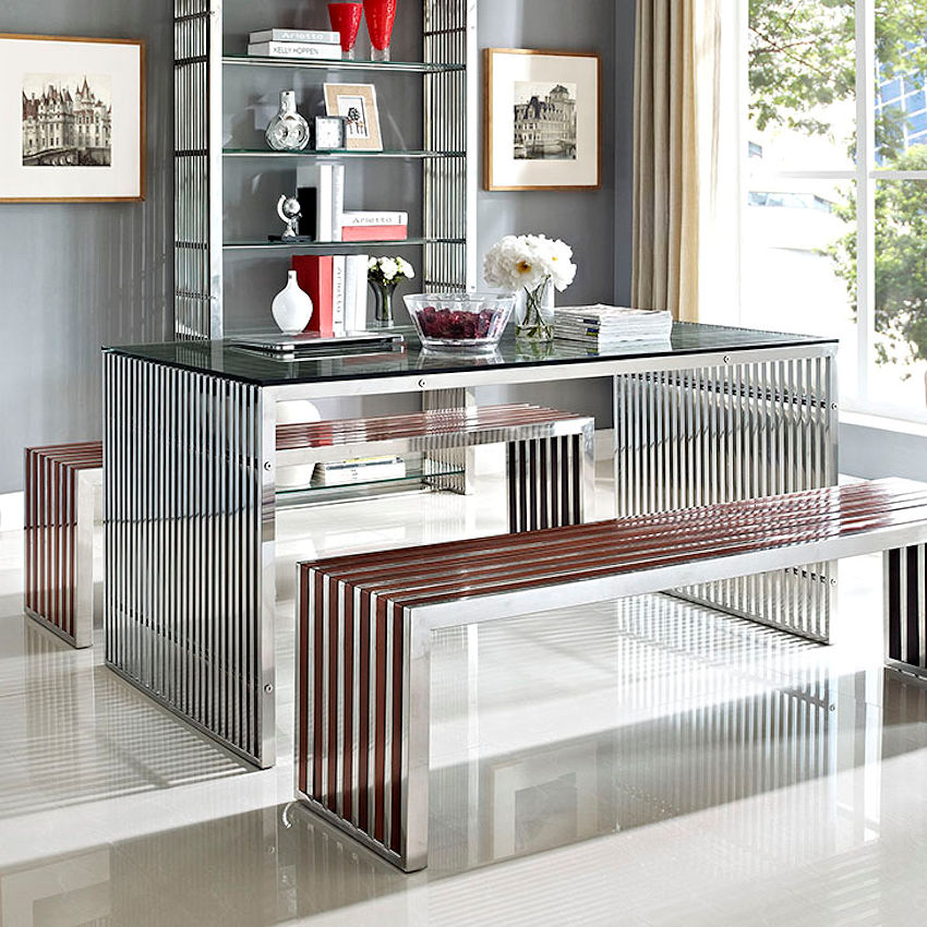 Modern Stainless Steel Table