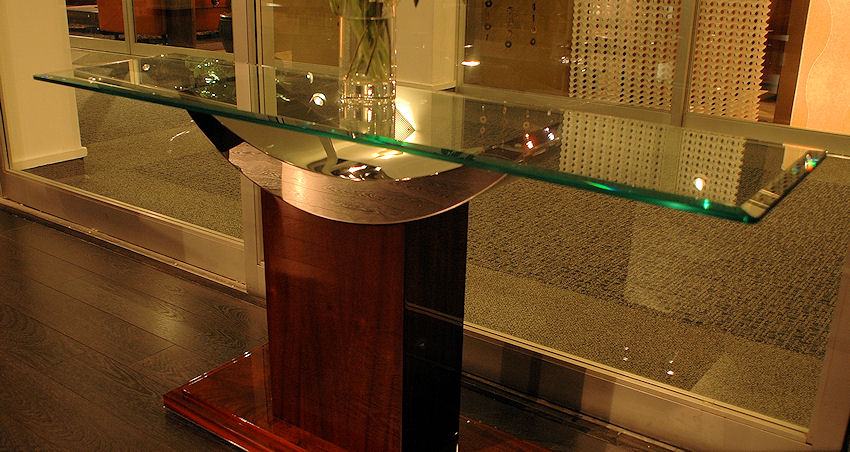 Modern Glass Top Console. 1 Contemporary Furniture     Product Page