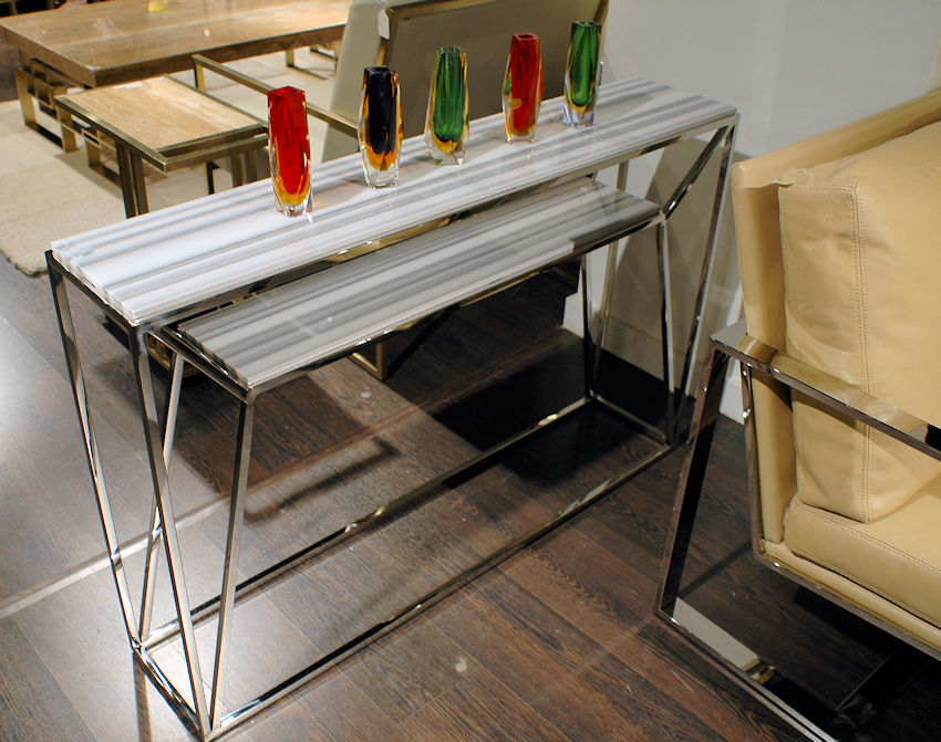 Modern Stone Top Console Table