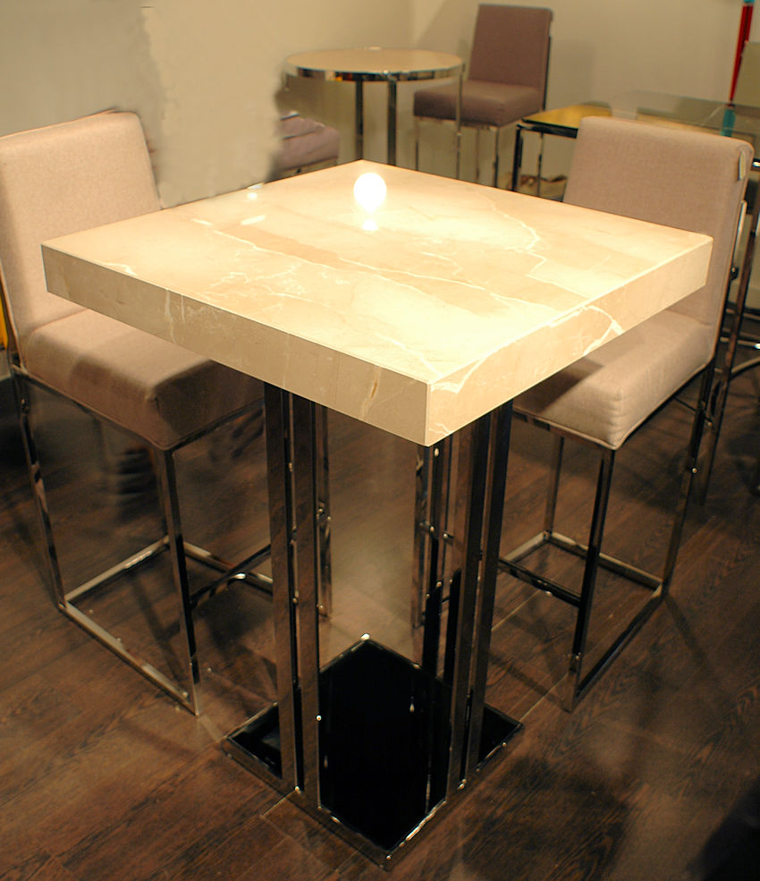 Stone Top Bar Tables