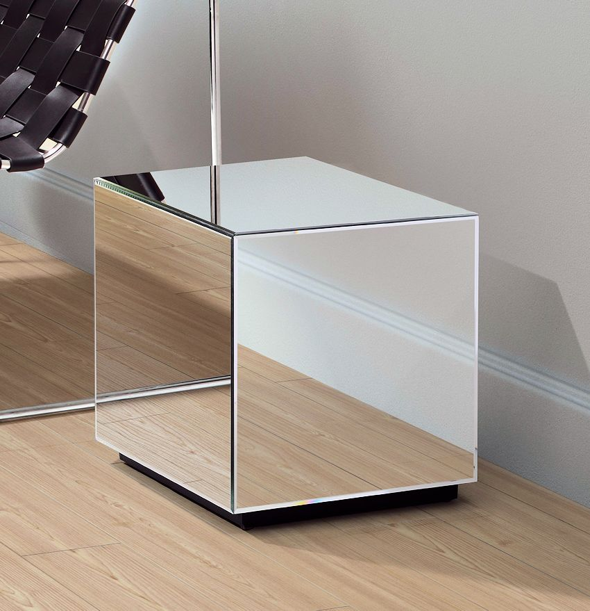 Modern Mirrored Side Table