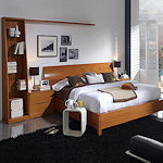 Contemporary Bedroom in Cherry