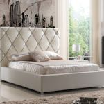Accent Leather Bed