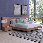 Contemporary Walnut Bedroom