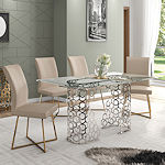 Contemporary Steel Gold Dining