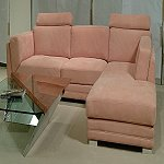European Leather Sectional