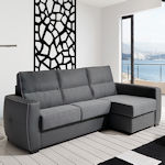 Contemporary Grey Sleeper Sectional